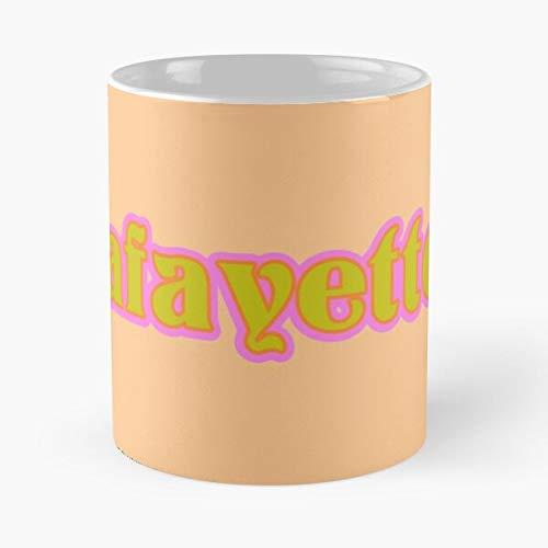 Ull Lafayette New Baton NOLA Laffy Louisiana of at Orleans University Rouge Best Mug hält Hand 11oz aus weißer Marmorkeramik