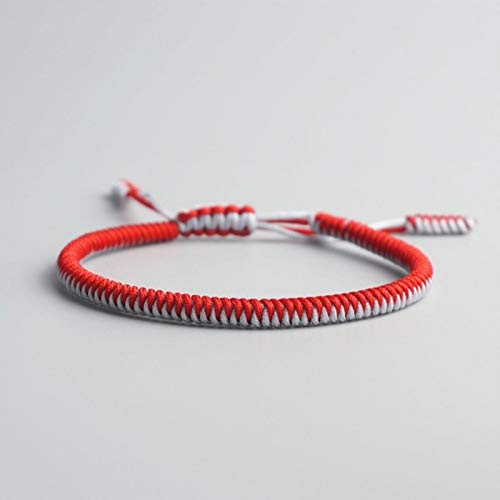 BLUESTEER Buddhist Love Lucky Charm Tibetan Bracelets Bangles for Women Men Handmade Knots Rope Buddha Bracelet,15