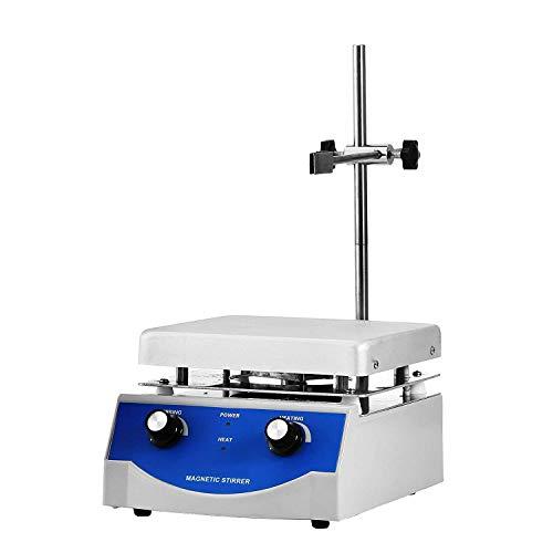 BestEquip SH-3 Magnetic Stirrer 6.7 x 6.7 Inch Heating Plate Magnetic Stirrer Hot Plate 3000ml Stirring Capacity Magnetic Stirrer Kit 500W Heating Power
