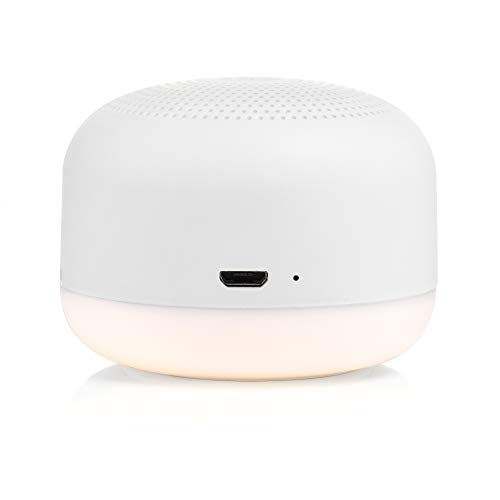 Yogasleep Travel Mini Portable White Noise Sound Machine   6 Soothing Sounds   Soft Dimable Night Light   Compact Sleep Therapy for Adults & Baby   USB Rechargeable   Lanyard for Easy Hanging