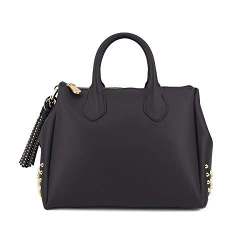 GUM Design, Borsa A Mano Fourty Media Nero, GUM_BS 1900T/20AI STUD R 11161