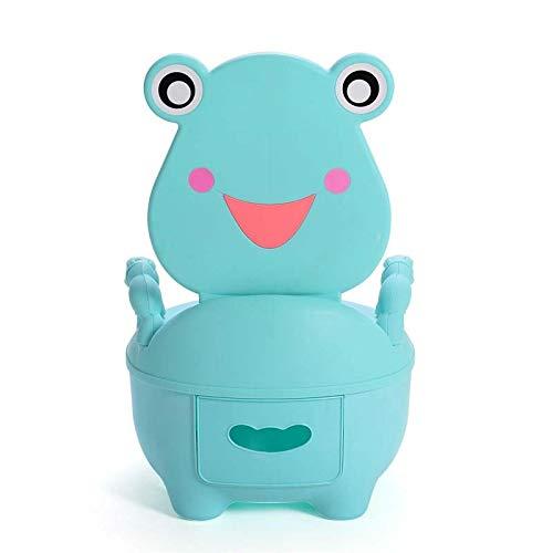 Potty Training Toilet Seat Baby Potties Children Travel Frog Portable Kids Toilet Outdoor Squat Car Potty Trainers Blue