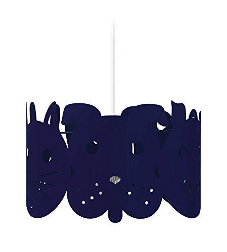 Tosel 17342 Suspension 1 Lumière, Acier, E27, 40 W, Bleu, 30 x 90 cm