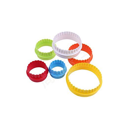 Ogquaton DIY Backenwerkzeuge Kunststoff Doppelseitige runde Form Ausstechformen Küche Liefert Packung von 6 Stücke