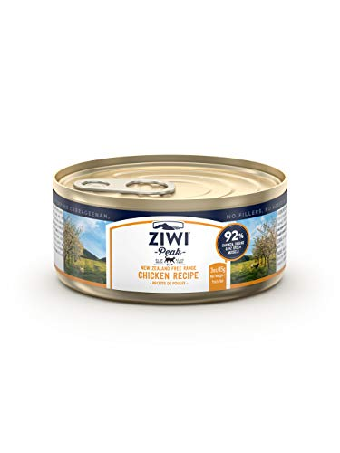 ZIWI Peak Canned Wet Cat Food – All Natural, High Protein, Grain Free, Limited Ingredient, with Superfoods (Chicken, Case of 24, 3oz Cans)