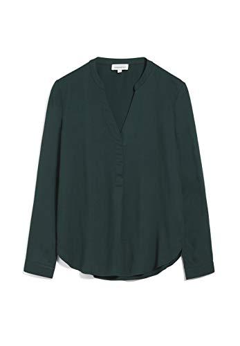 ARMEDANGELS CEYLAAN - Damen Bluse aus LENZING™ ECOVERO™ L Deep Lake Bluse Langarm Relaxed Fit