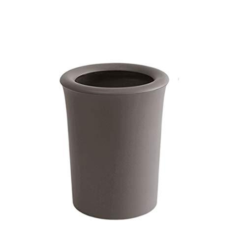 Bote de basura Material de PP Duradero Bote de basura Cuarto de baño, dormitorio, textura mate del cubo del almacenamiento de la oficina sin el cubo de basura del anillo de presión de la cubierta Bote
