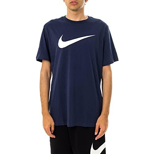 NIKE Sportswear Swoosh Top, Minuit Marine/Blanc, M para Hombre
