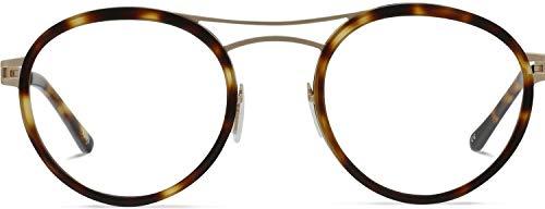 Brille mit wählbare Sehstärke (inkl. Zylinder)   Norio   Piloten Brille aus Titanium mit italienischem Acetat   Braun   Charlie Temple