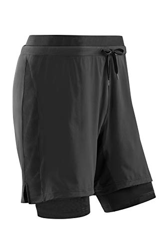 CEP Run Short 3.0 Pantaloncini di Jeans, Nero, M Unisex-Adulto
