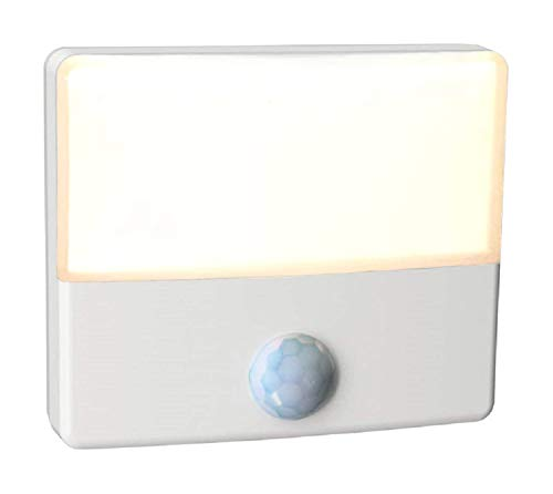 WESTEK Senti LED Motion Sensor Night Light – Indoor Plug-In Dusk/Dawn Automatic Night Light – Illuminate Dark Areas of Your Home, Warm Glow, Energy Efficient, Ultra-Slim, Cool-Touch – 2 Lumens