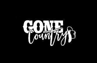Gone Country with Cowboy Hat NOK Decal Vinyl Sticker |Cars Trucks Vans Walls Laptop|White|5.5 x 3.0 in|NOK488