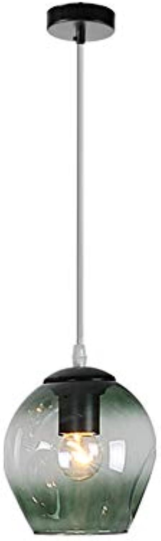 Kreativ Handgefertigt Glas Pendelleuchte E27, Minimalistische 1 Kopf Hngen Esstisch Beleuchtung Pendellampe Flur Licht-c 18x18cm