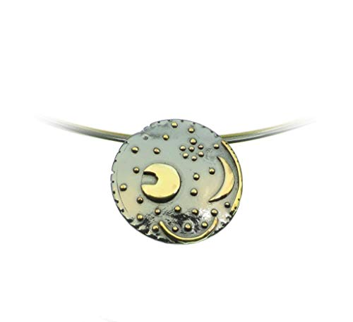Himmelsscheibe von Nebra, Ø 40mm Anhänger 925/- Silber, Sternenschmuck