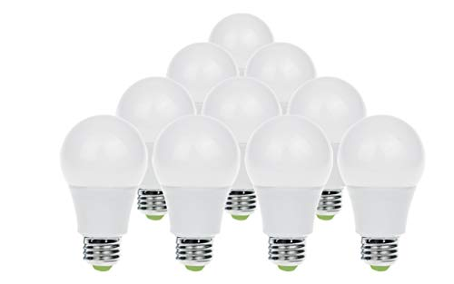 10-PACK ASD A19 LED BULB 9W (60W Equivalent) E26 4000K - Bright White Non-Dimmable UL Listed (Only $1.86 per bulb)