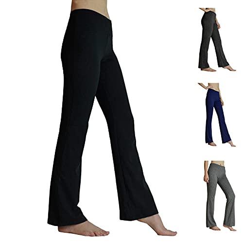 HeTaiDa Damen Jogginghose, schnell trocknende Sporthose mit versteckten Taschen, Mittlhohe Taille Stilvolle Freizeitliche Yogahose für Fitness,...