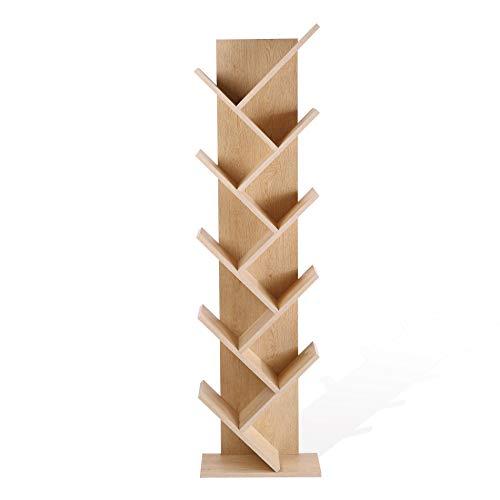 Rebecca Mobili Scaffale Stile scandinavo, libreria Moderna 10 Ripiani, Marrone, Legno MDF, casa e Ufficio - Misure: 160 x 44,5 x 22 cm (HxLxP) - Art. RE4792