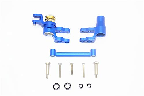 GPM for Traxxas 1/10 Maxx 4WD Monster Truck Upgrade Parts Aluminum Steering Assembly - 1 Set Blue