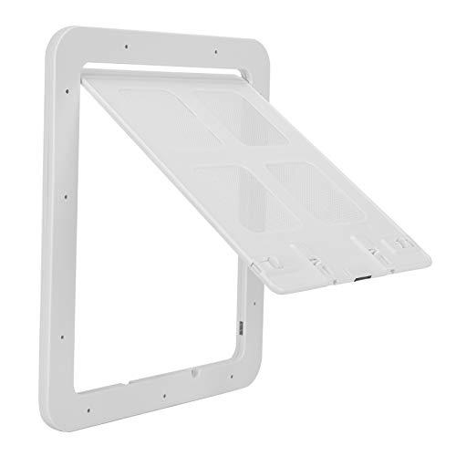 Semiter Haustiertür, 2 Größen erhältlich Langlebige Haustiertür, Bildschirmtür mit Magnetklappe für Haustiertür(White, small)