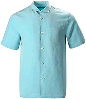 Havana Breeze メンズ リラックスフィット リネンシルクシャツ