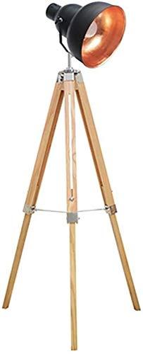 SOSERFL staande lamp, Amerikaanse nostalgie hoofddecoratie statief massief houten vloerlamp retro stijl badkamer ogen staande woonkamer vloerlamp afmetingen: 65 * 145 cm