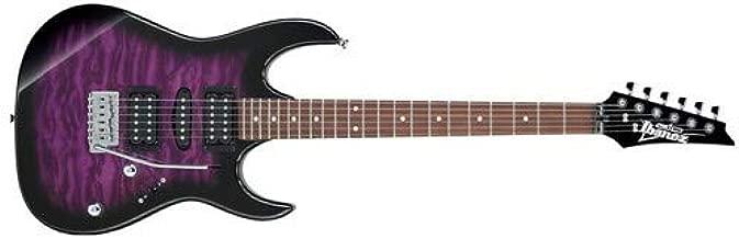 Ibanez GRX 6 String Solid-Body Electric Guitar, Right, Transparent Violet Sunburst, Full (GRX70QATVT)