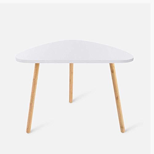 ZJN-JN Mesa Mesa de café Tabla de bambú Tabla Snack-Sofá lado del extremo mesa decorativa moderna de muebles for sala de estar dormitorio balcón Familia Sofá lado del extremo de la tabla (Color: Blanc