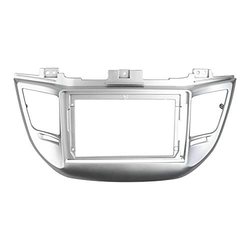 XIUXIU RainYun Fascia de Radio de 9 Pulgadas para Hyundai Tucson 2015-2018 Dashboard Dash Play Kit Marco de Marco del Panel estéreo DVD GPS Jugador de Placa de Cara Bisel (Color Name : Silver)