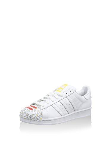 adidas Superstar Pharrell, Zapatillas para Hombre, Blanco/Amarillo, 44 EU