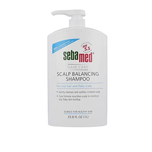 Sebamed Scalp Balancing Shampoo - Gentle Anti Dandruff Shampoo Formula for Oily Hair and Flaky Scalp 33.8 Fluid Ounces (1 Liter with Pump)