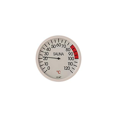 eliga thermometer wit 120 mm voor sauna