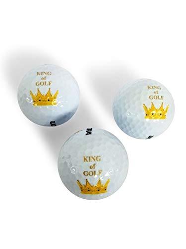 CEBEGO® Golfballset King of Golf,Dreierset Golfbälle, Markengolfballset,Wilson,Golfbälle mit Motiv Herren