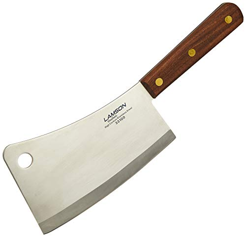 Lamson Meat Cleaver, with Riveted Walnut Handle, Stainless Steel, 12""