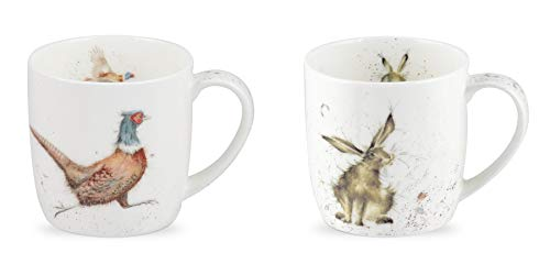 Wrendale Mugs - Lord of The Woods & Good Hare Day - Twin P