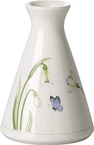 Villeroy & Boch Colourful Spring Vase, 12x13 cm, Porzellan, Weiß/Bunt