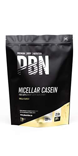 PBN - Premium Body Nutrition PBN - Paquete de caseína micelar, 1 kg (sabor vainilla) ⭐
