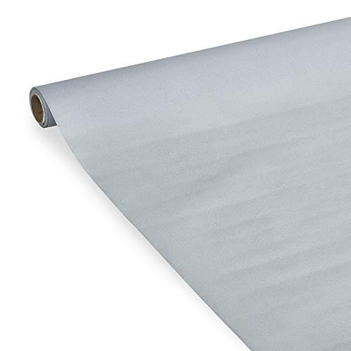 Le Nappage - Mantel de papel plateado en airlaid - Tacto suave - Mantel dorado en rollo de 1,20 x 5 metros