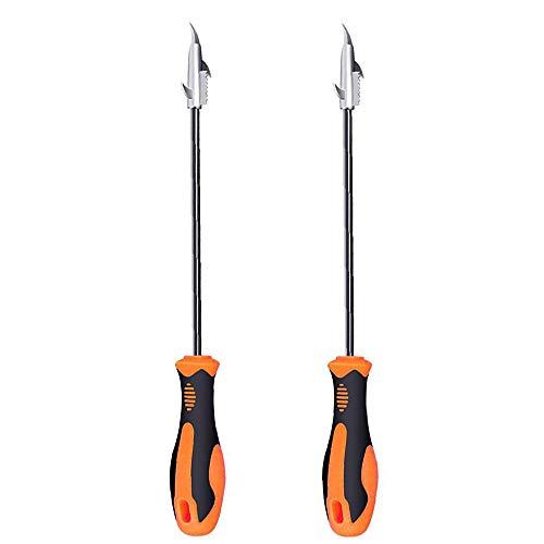 DEDC 2 Stück Autoreifen Reinigungshaken Edelstahl Autoreifen Clear Stone Hook, Reifen Stein Reinigung Reparatur Werkzeug