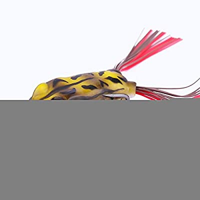 NOLOGO Js-mlq 55mm/12g Soft Tube Bait Fishing Lures Frog Lure Treble Hooks Top Water Ray Frog Artificial Soft Bait