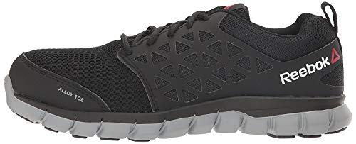 Reebok Work Sublite Cushion Work RB041 Industrial and Construction Shoe, Black, 11.5 W US