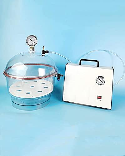 LLC con Bomba De Vacío Desecador De Vacío Policarbonato De Plástico Secador De Vacío De Doble Válvula Equipo De Secado De Laboratorio,150mm