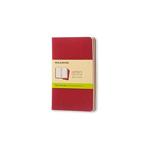 Cahier plain pocket, red