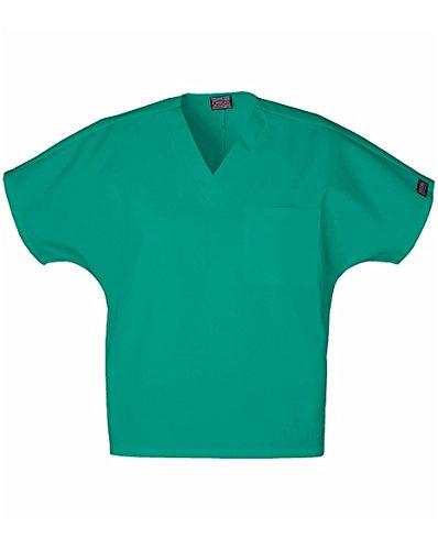 Cherokee Originals Unisex V-Neck Scrubs Shirt, Surgical Green, Medium
