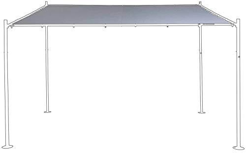 SORARA Ersatzabdeckung für Wand Gazebo | grau | 285 x 400 cm (T x B) | Modern Style Außen Canopy und Shelter Pergola Pavillon