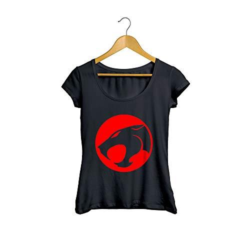Camiseta Baby Look Thundercats Feminino Preto Tamanho:G