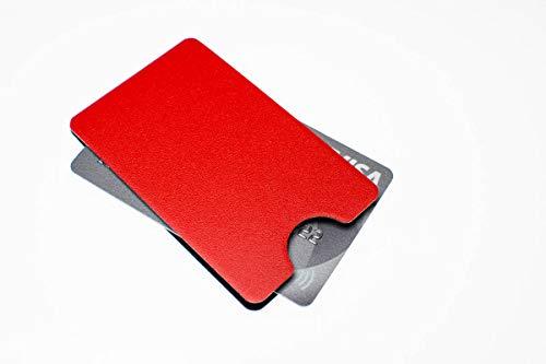 Schutzhülle RFID & NFC-Schutz Geldkarten EC Karten Ausweis etc. rot hochkant Aluminium