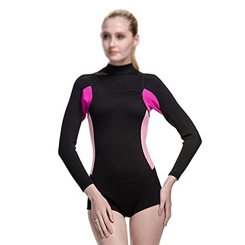 Traje De Baño Traje De Baño De Neopreno De 2 Mm para Mujer, Traje De Neopreno para Surf, Snorkel, Traje De Baño para Hacer Surf, Nadar, Deportes Acuáticos (Color : Black, Size : XL)