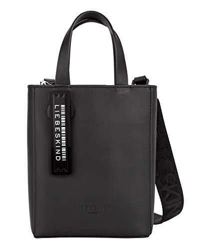 Liebeskind Berlin Damen Paper Bag Tote, Black, 13x17x5 cm