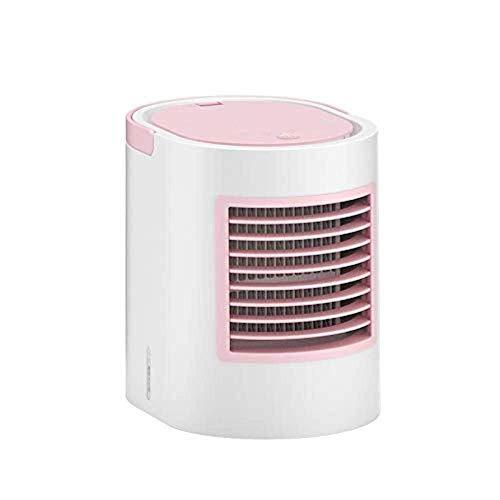 SLRMKK Refroidisseur D'air, 3 En 1 USB Mini Climatiseur Portable Pulvérisateur Climatiseur Humidificateur Portable, Purificateur Pour La Maison De Bureau, Rose