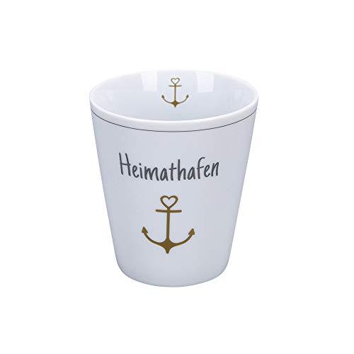 Krasilnikoff - Happy Mug - Becher, Tasse - Heimathafen - Porzellan - H10 x Ø8,7 cm - Volumen: 330 ml